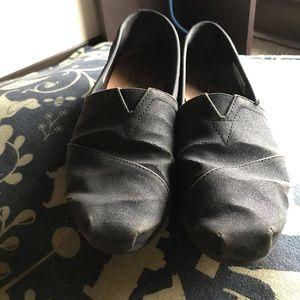 Black sparkly Toms!